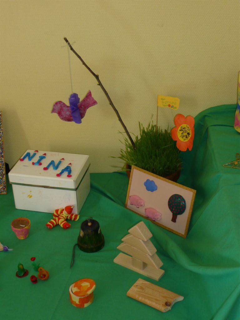 Quelques réalisations manuelles d'enfants
