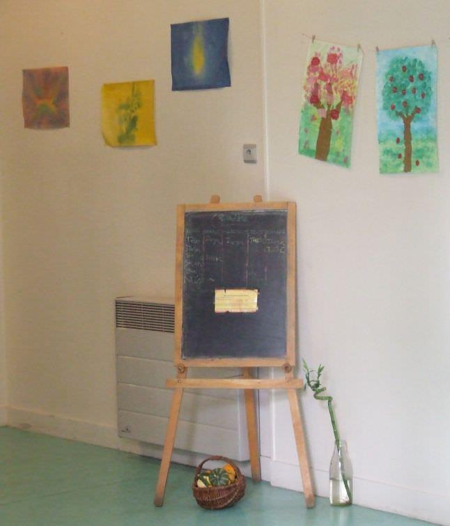 Notre tableau sur lequel les parents inscrivent leur enfant à la garderie